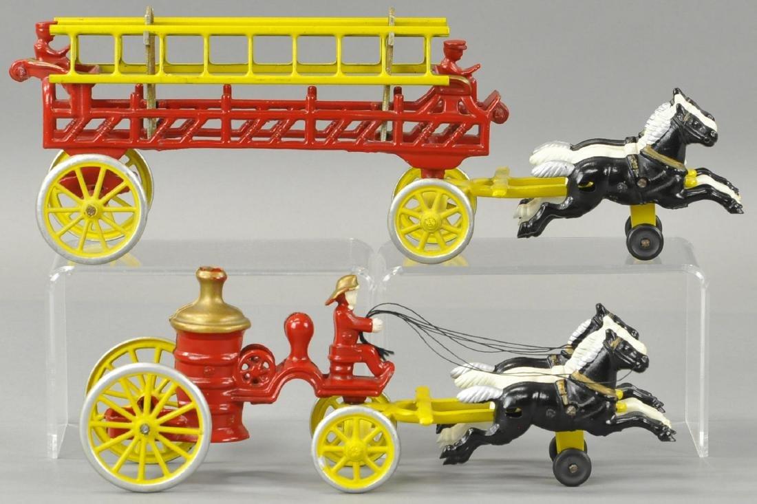 TWO KENTON HORSE DRAWN FIRE TRUCKS - 2