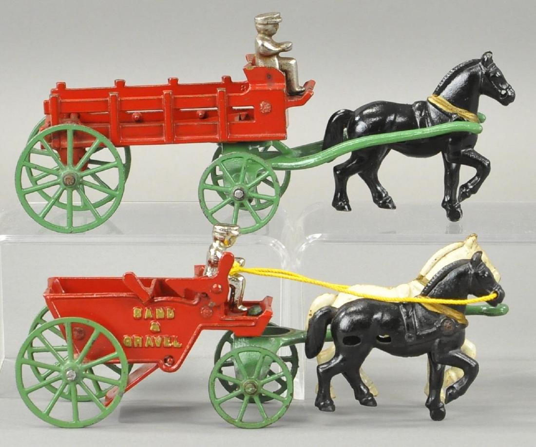 TWO KENTON HORSE DRAWN WAGONS