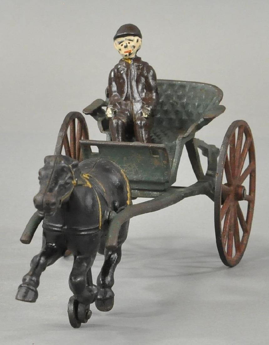 HUBLEY HORSE DRAWN SULKY CART - 2