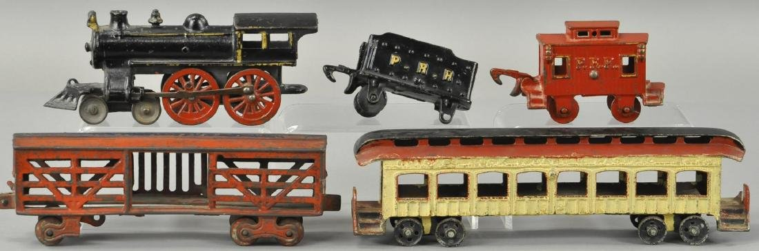 GROUP LOT OF IRON TRAIN CARS