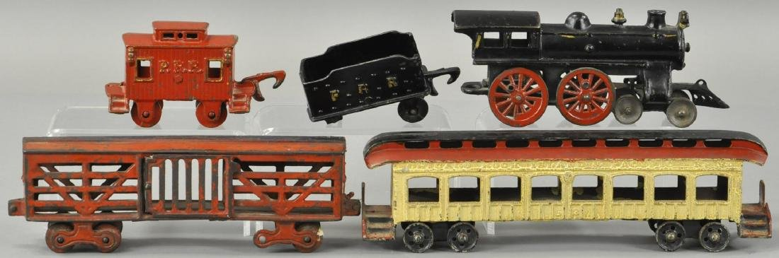 GROUP LOT OF IRON TRAIN CARS - 2