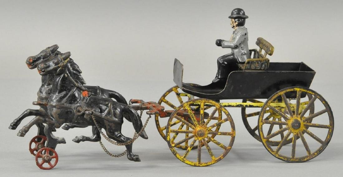 TWO HORSE SURREY CART - PL/WILKINS