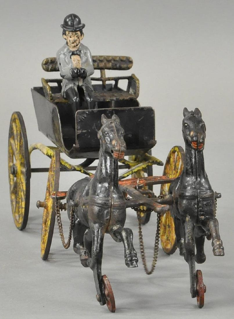 TWO HORSE SURREY CART - PL/WILKINS - 2