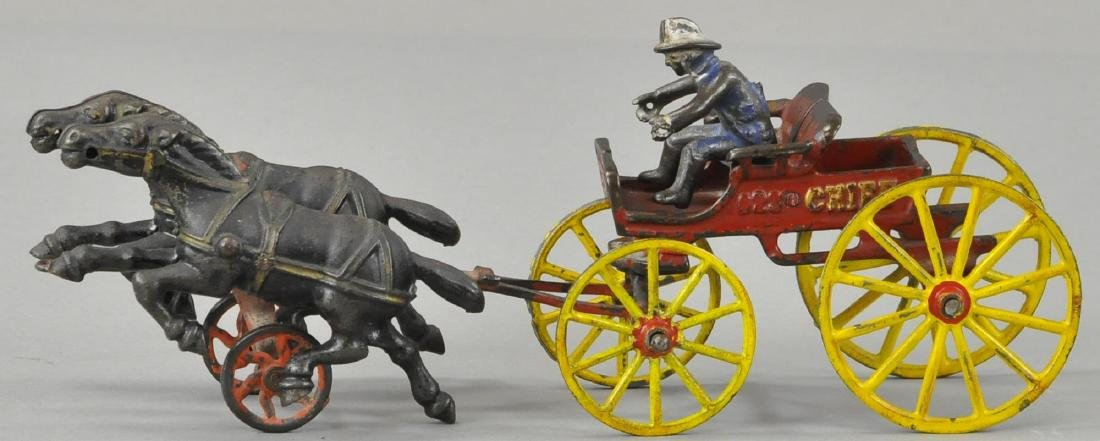HUBLEY HORSE DRAWN FIRE CHIEF CART