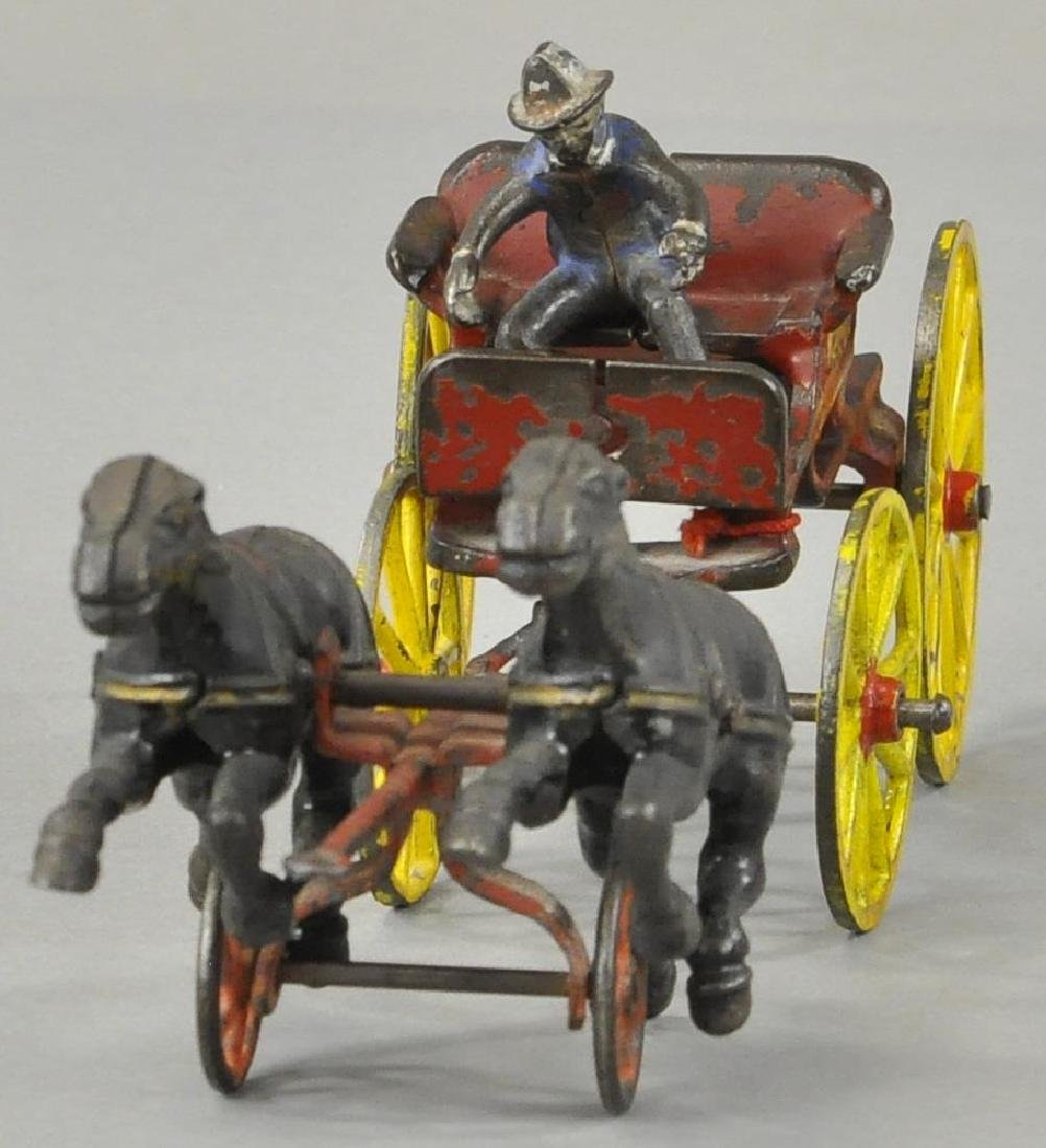HUBLEY HORSE DRAWN FIRE CHIEF CART - 2