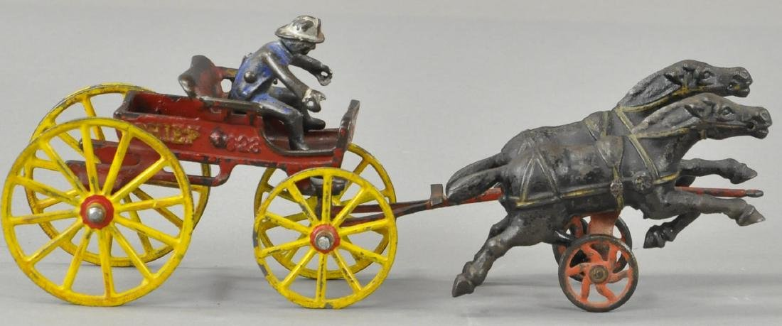 HUBLEY HORSE DRAWN FIRE CHIEF CART - 3