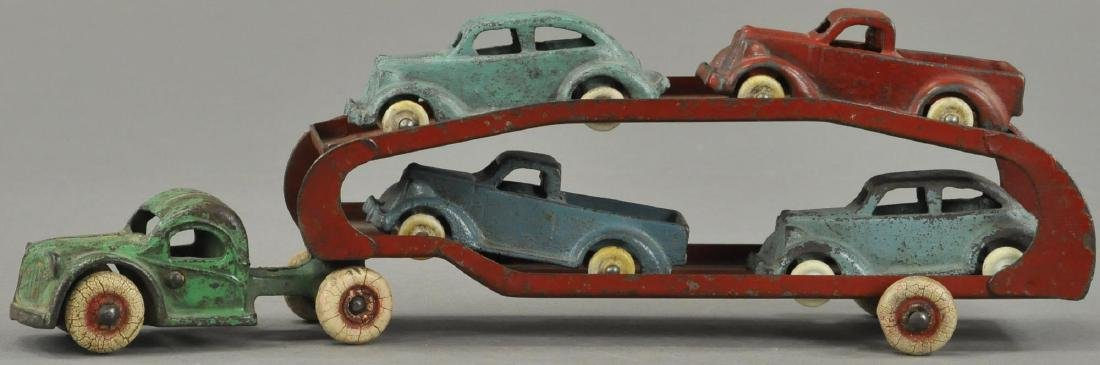 ARCADE CAR HAULER WITH FOUR CARS - 2