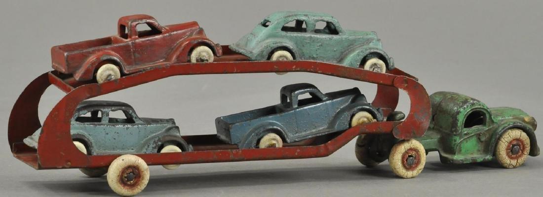 ARCADE CAR HAULER WITH FOUR CARS - 3