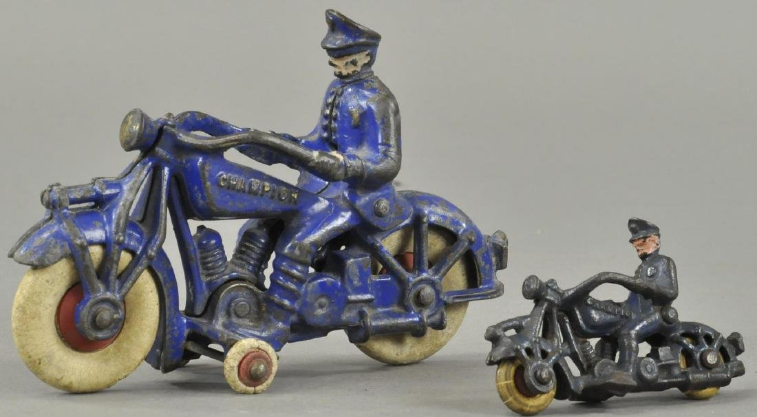 TWO CHAMPION MFG POLICE MOTORCYCLES