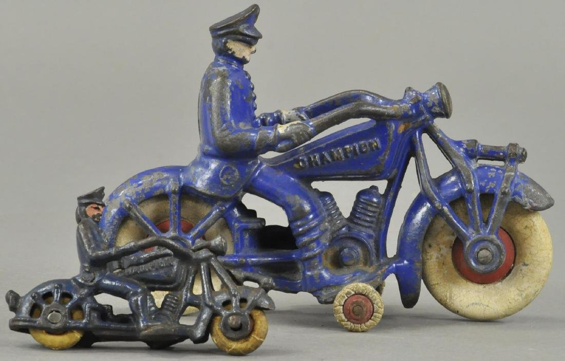 TWO CHAMPION MFG POLICE MOTORCYCLES - 2