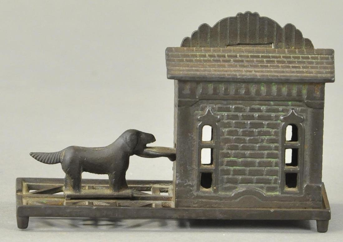 GEM MECHANICAL BANK - DOG TRAY