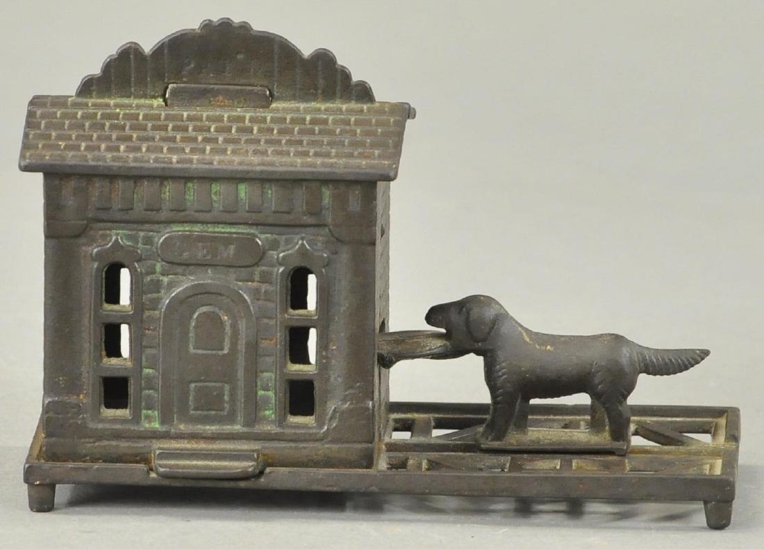 GEM MECHANICAL BANK - DOG TRAY - 2