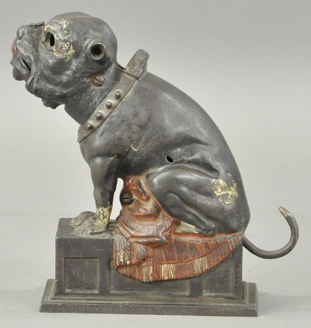 SEATED BULL DOG MECHANICAL BANK - 2