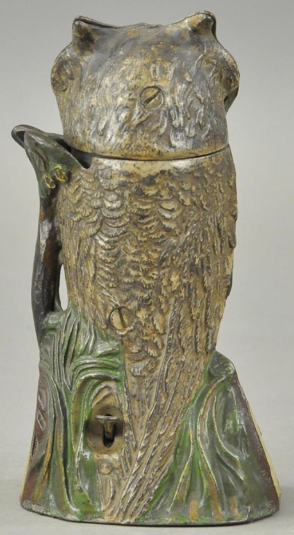 OWL TURNS HEAD MECHANICAL BANK - 3
