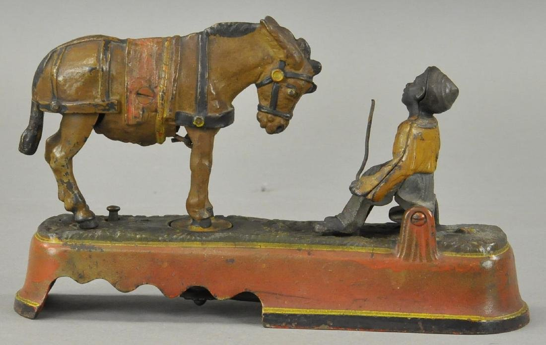 SPISE A MULE MECHANICAL BANK - BENCH VERSION - 3