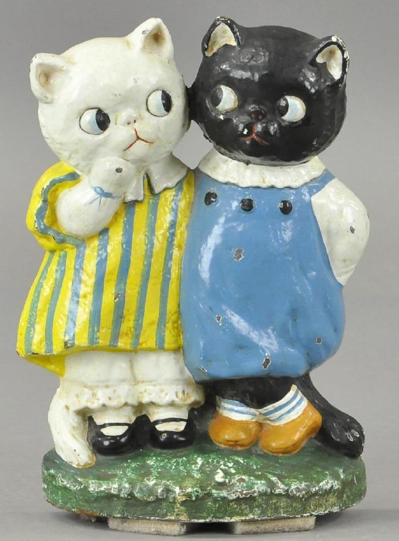 HUBLEY TWIN CATS DOORSTOP