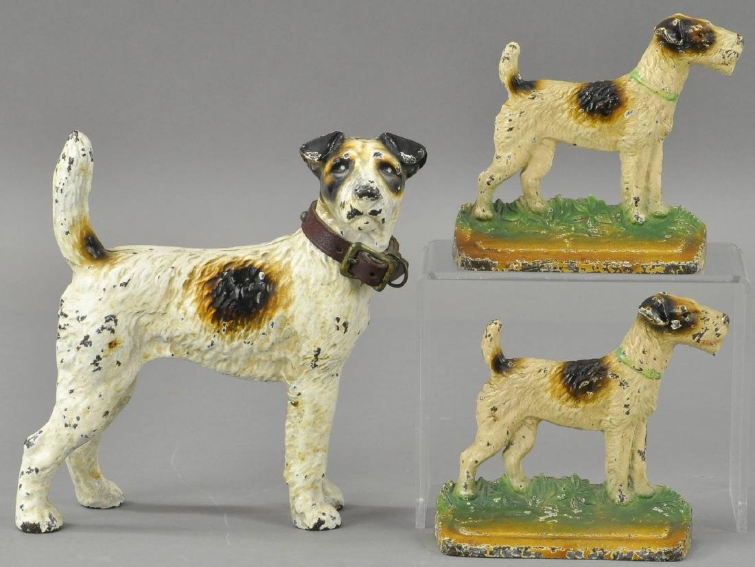 SET OF FOX TERRIER DOORSTOP & MATCHING BOOKENDS