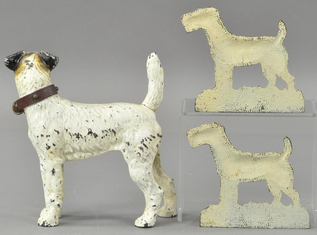 SET OF FOX TERRIER DOORSTOP & MATCHING BOOKENDS - 2