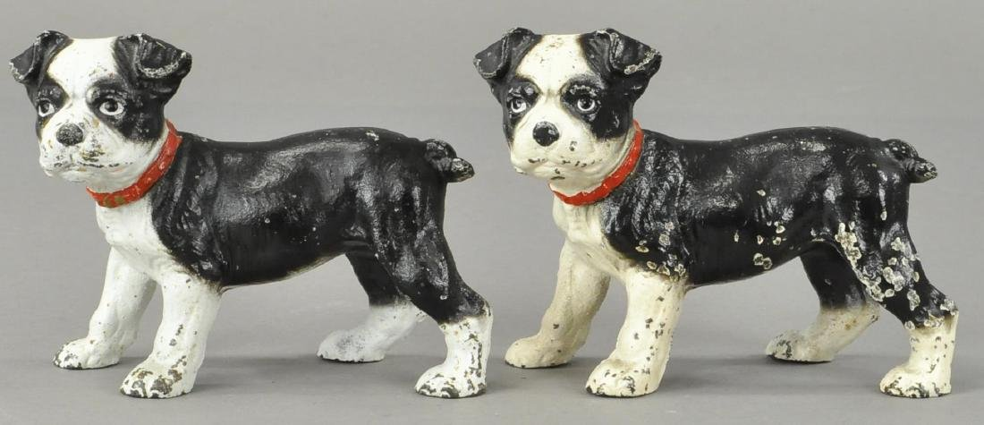 PAIR OF HUBLEY BOSTON TERRIOR PUP BOOKENDS