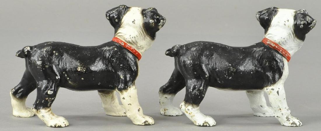 PAIR OF HUBLEY BOSTON TERRIOR PUP BOOKENDS - 2