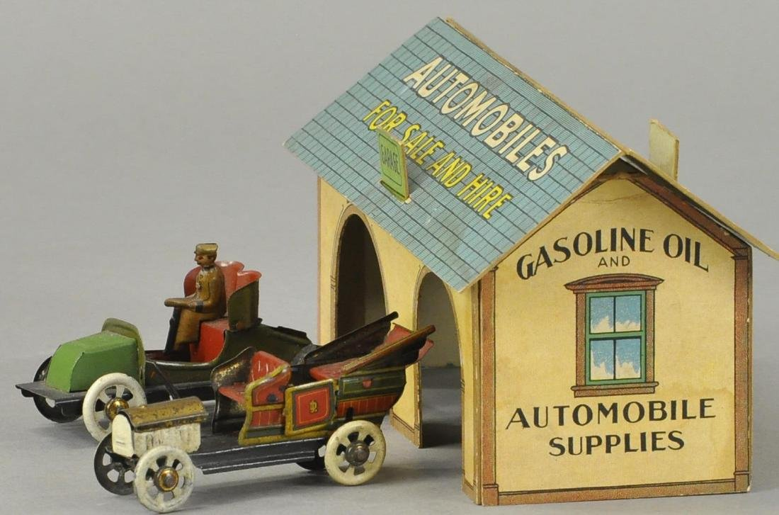 TOY TOWN PENNY TOY GARAGE SET