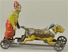TIPPCO CLOWN ON DOG CART