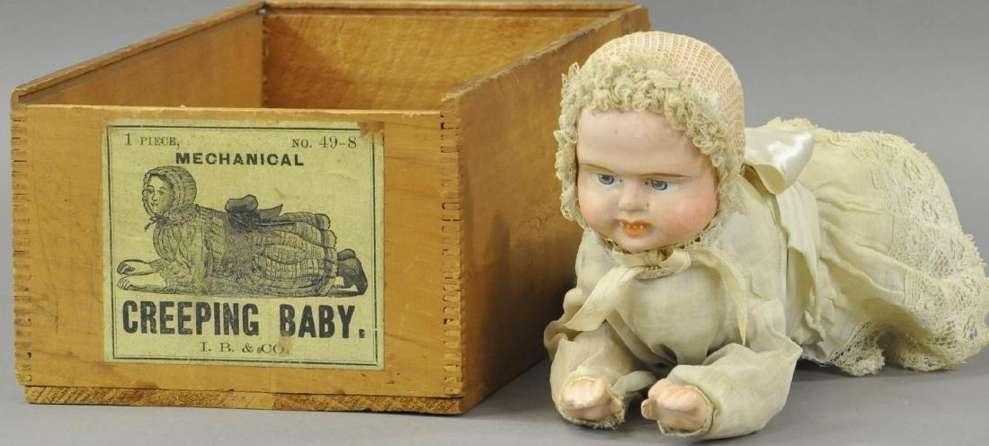 IVES MECHANICAL CREEPING BABY W/ORIGINAL BOX
