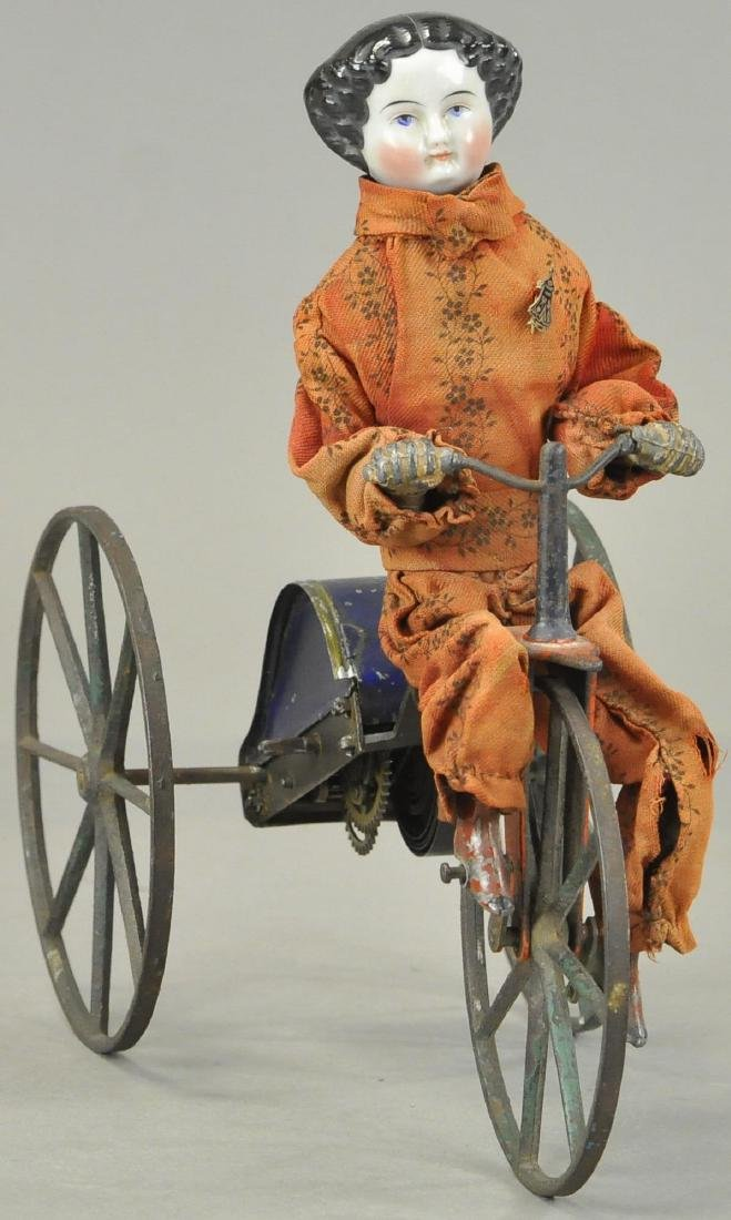 CHINA HEAD GIRL ON VELOCIPEDE