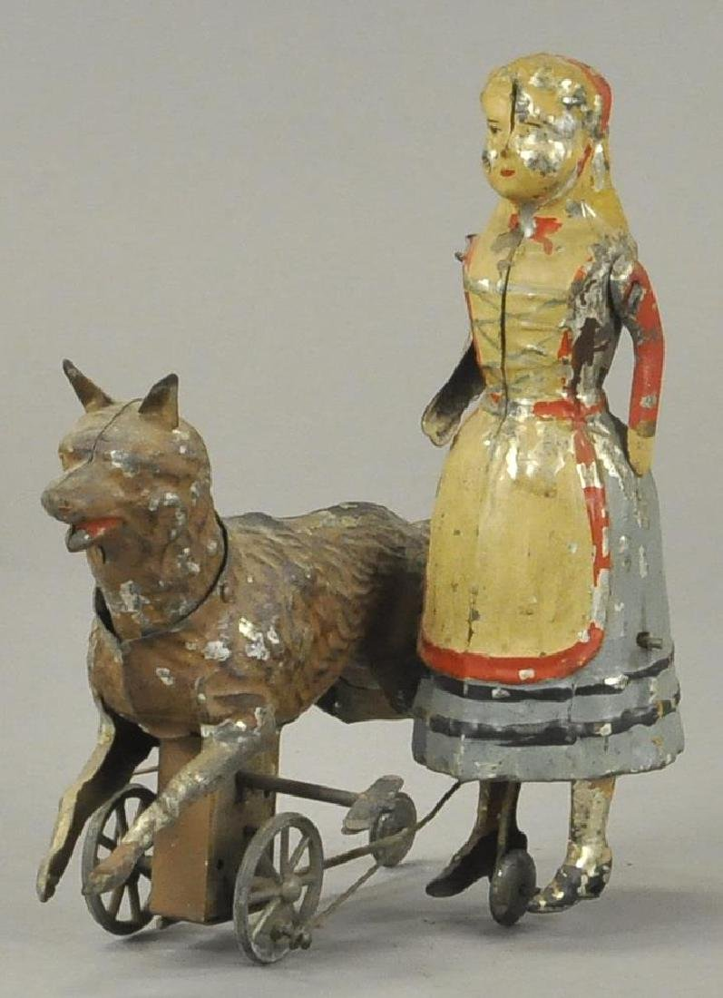 GERMAN TIN RED RIDING HOOD AND WOLF