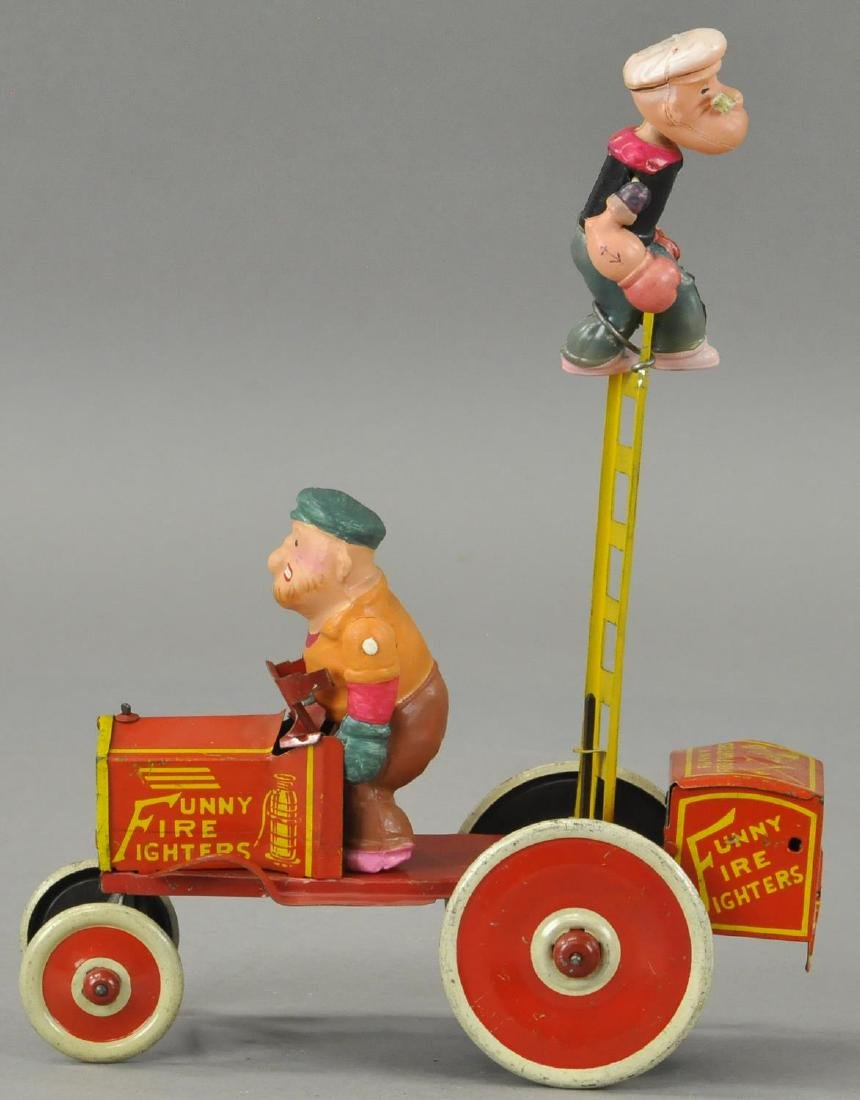 MARX POPEYE FUNNY FIRE FIGHTERS