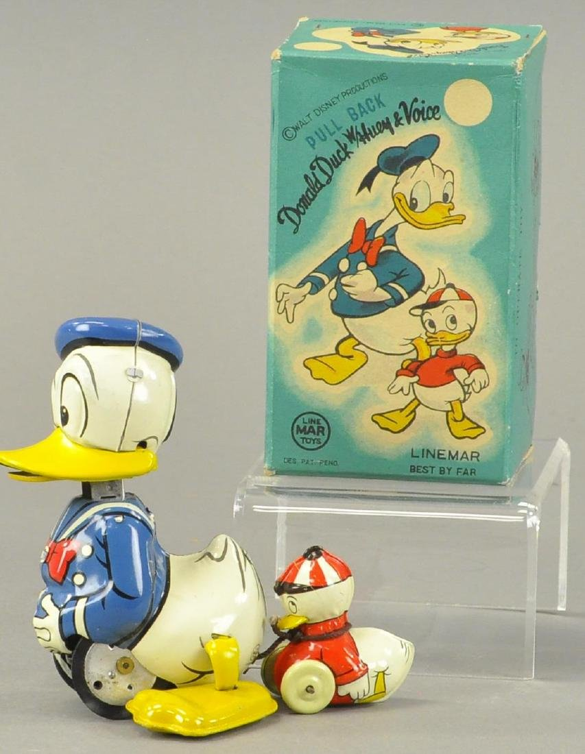 BOXED LINEMAR DONALD DUCK WITH HUEY