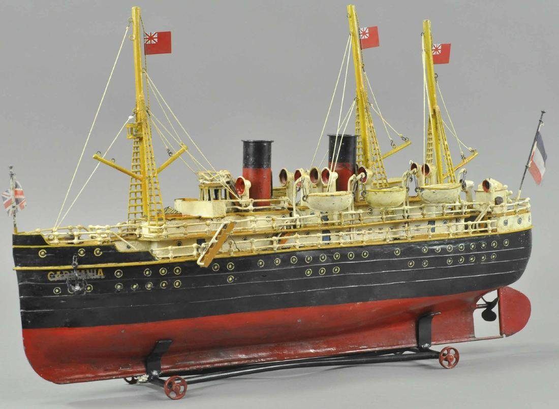 GERMAN TIN OCEANLINER CARMANIA
