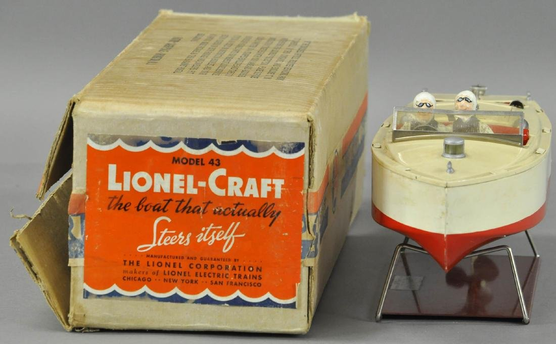 LIONEL BOXED MODEL #43 SPEED BOAT