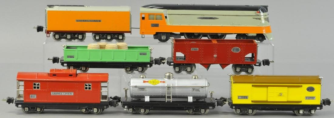 LIONEL OUTFIT 757W, 250E FREIGHT SET