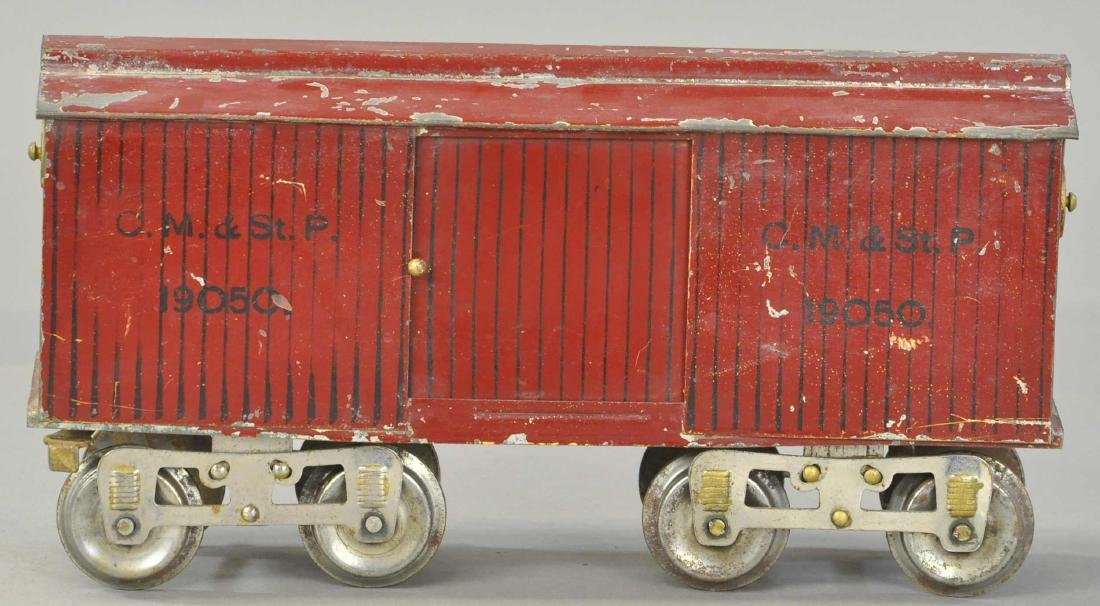 LIONEL 14 BOX CAR YELLOW BOTTOM