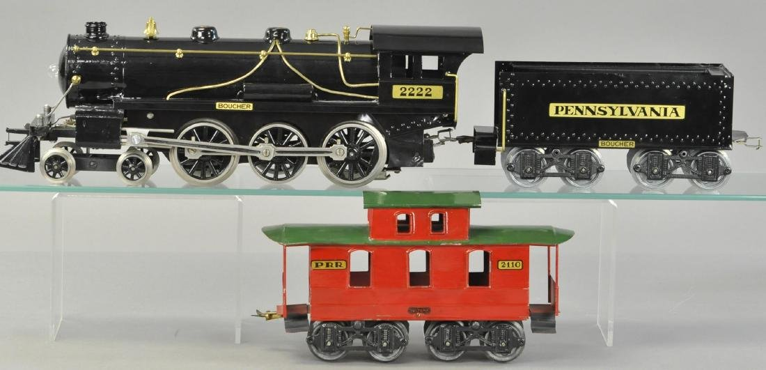 BOUCHER 2222 LOCOMOTIVE, TENDER AND CABOOSE