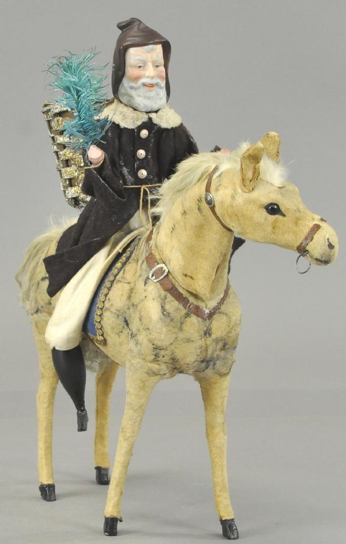 ST. NICHOLAS ON MAGNIFICENT DAPPLE HORSE