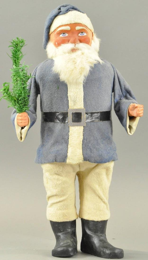 LARGE BLUE ROBE SANTA CANDY CONTAINER