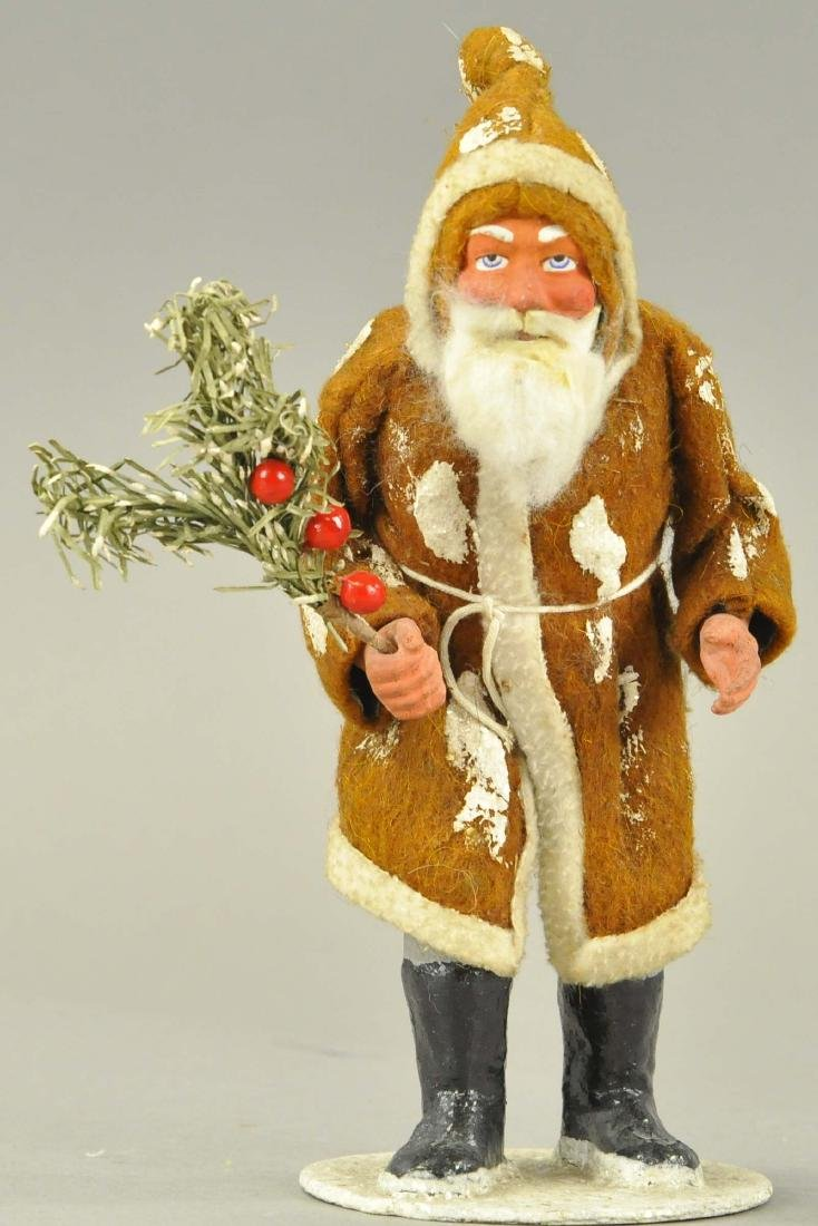 WOODCUTTTER SANTA IN BROWN ROBE