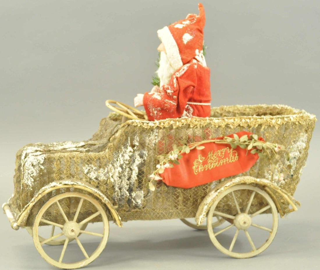 SANTA CLAUS IN STORE DISPLAY AUTOMOBILE
