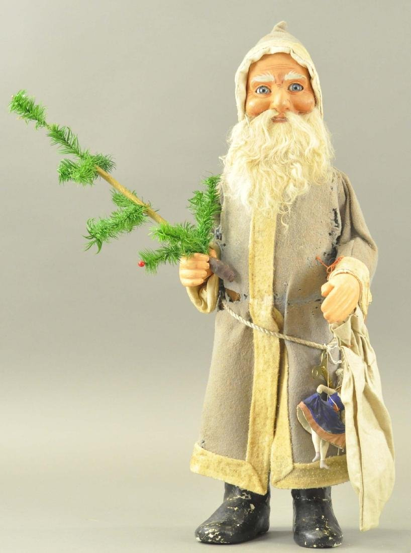 GREY ROBE NODDING SANTA CLAUS