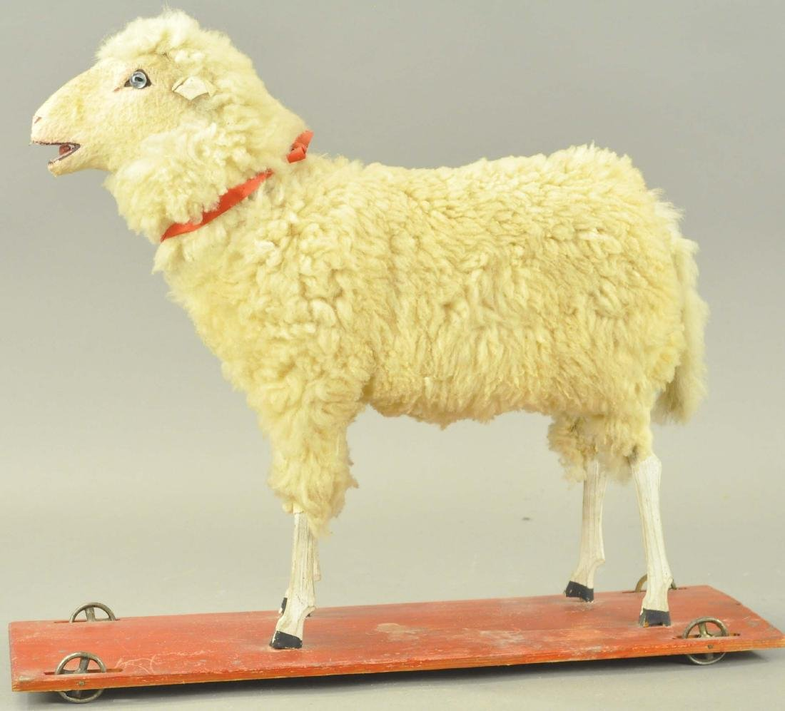 LARGE WOOLY SHEEP PULL TOY