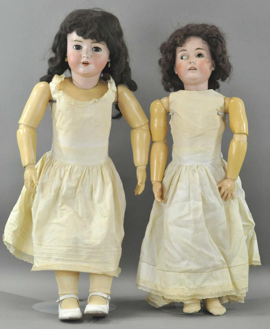LOT OF TWO LARGE GERMAN DOLLS