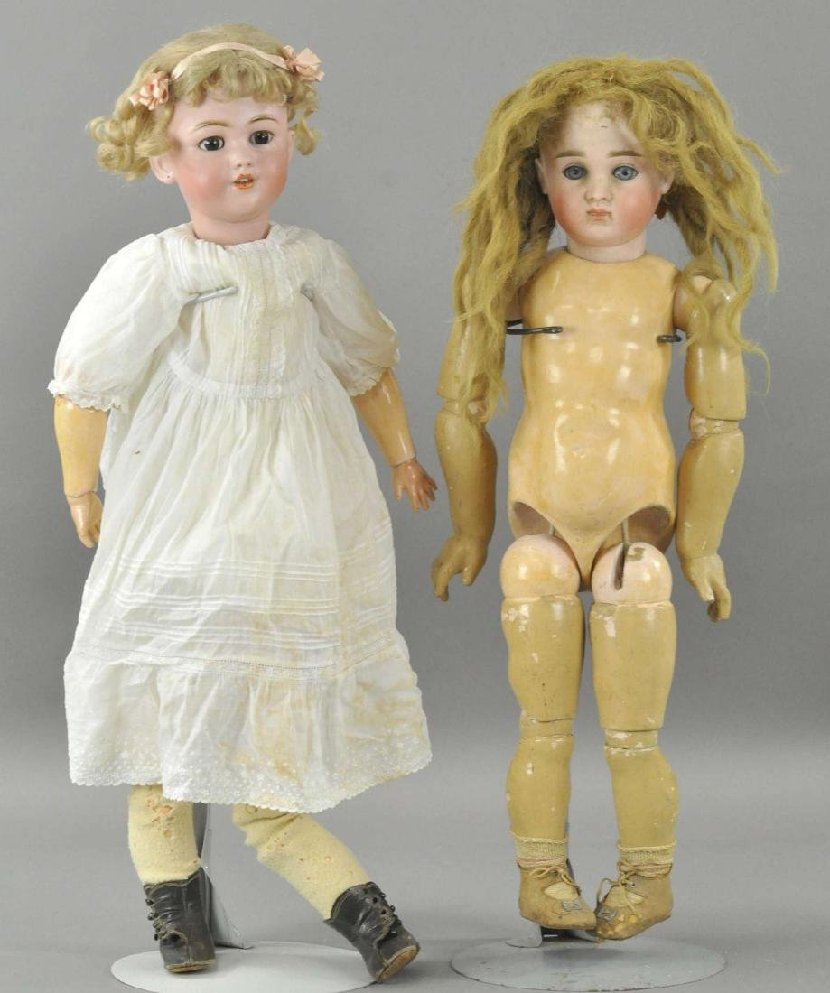 LOT OF TWO GERMAN GIRL DOLLS