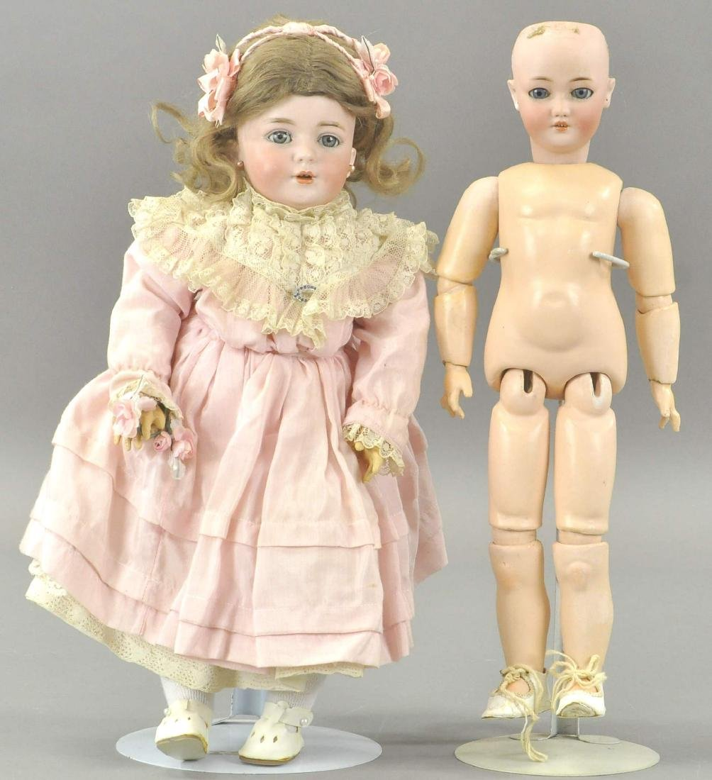 LOT OF TWO VERY PRETTY SIMON-HALBIG DOLLS
