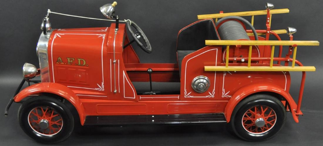 AMERICAN NATIONAL HOOK AND LADDER PEDAL CAR