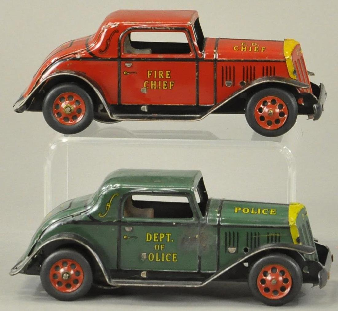 MARX POLICE AND FIRE CHIEF COUPES