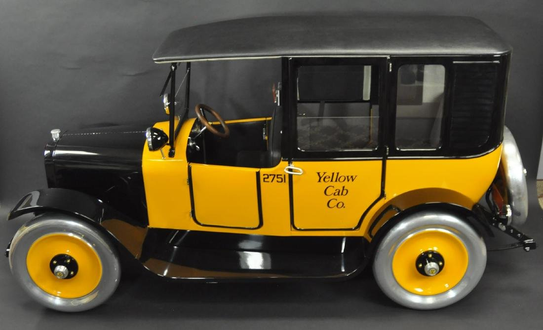 LIMITED EDITION YELLOW CAB PEDAL CAR