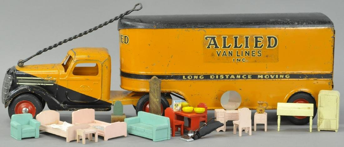 BUDDY L ALLIED VAN LINES DELIVERY TRUCK