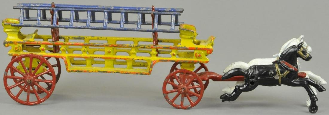 SMALL HUBLEY HORSE DRAWN LADDER WAGON